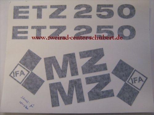 Aufkleber Satz Für Mz Etz 250 2 Ausführung Schwarz