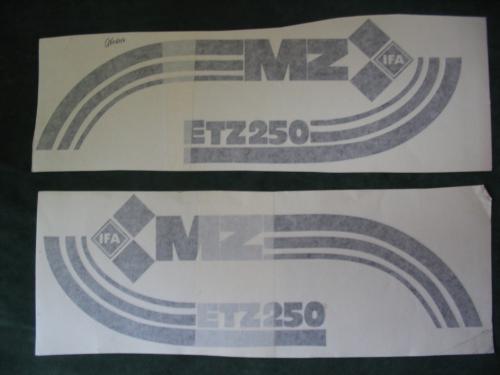 Aufkleber Satz Für Mz Etz 250 1 Ausführung In Schwarz