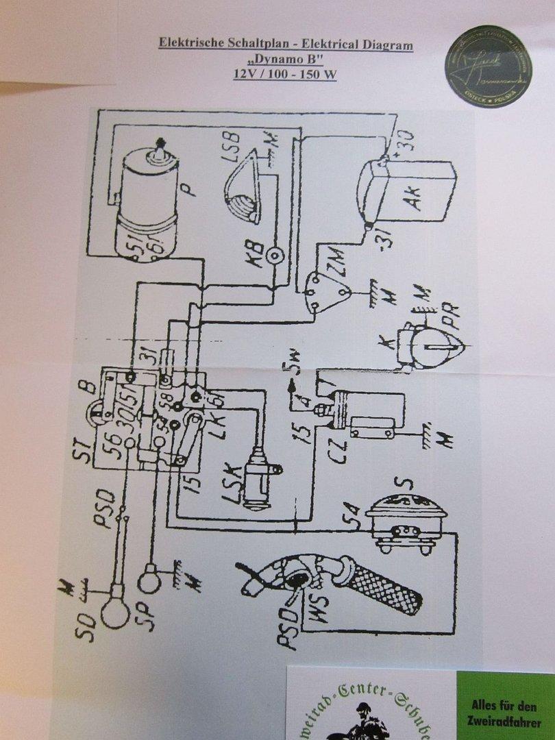 Lichtmaschine Dynamo_B 12V / 100 W BMW R35 / EMW R35, NSU OSL - Home